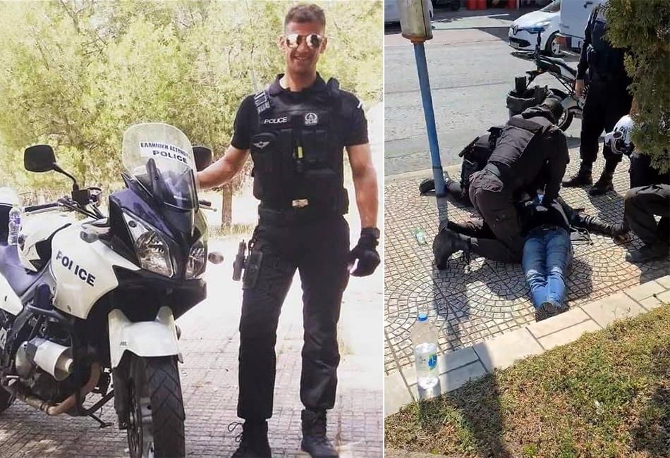 Θρακιώτης αστυνομικός σώζει πολίτη που κατέρρευσε στον δρόμο