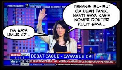 7 Meme 'Ira Koesno' Saat Debat Pilgub DKI Ini Bikin Netizen Gagal Fokus