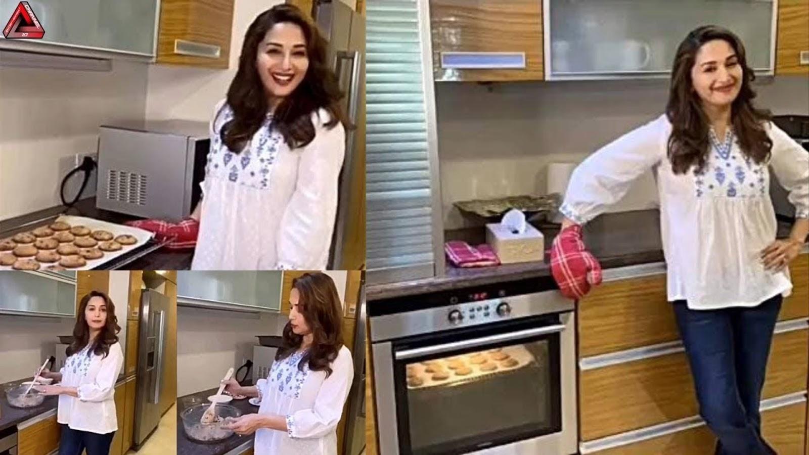 madhuri-ginger-choco-chips-making-biscuits