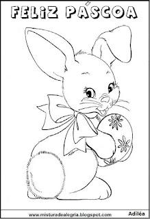 Desenho de coelhinho da páscoa