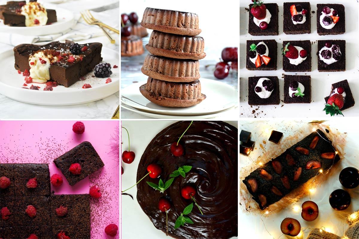 6 zdrowych przepisów na ciasto brownie czekoladowe