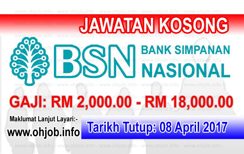 Jawatan Kerja Kosong BSN - Bank Simpanan Nasional logo www.ohjob.info april 2017