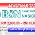 Job Vacancy at BSN - Bank Simpanan Nasional