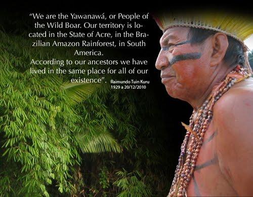 Líder Yawanawá - Raimundo Tuin Kuru - (1929-2010)