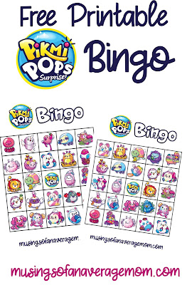 free printable pikmi pop bingo