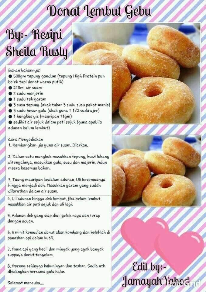 resepi donut lembut gebu sheila rusly