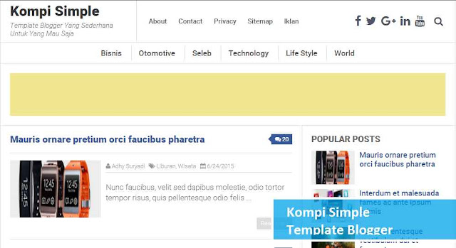 template blogger kompi simple