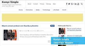 4 Template blogger paling keren, 100% SEO friendly, responsive dan fast loading
