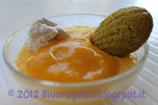 tapioca pudding con cocco e mango al tè verde