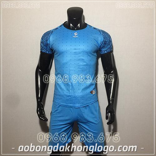 Áo bóng đá ko logo Egan Atec màu xanh dương