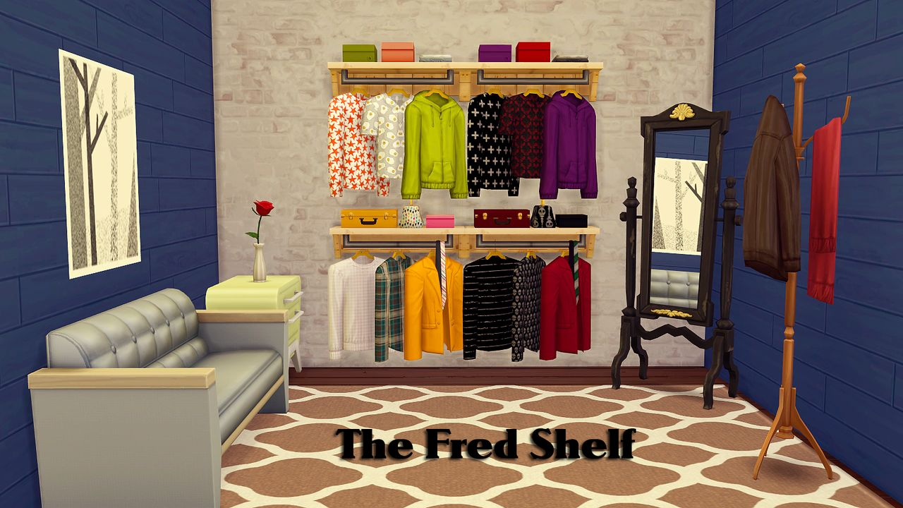 My Sims 4 Blog Updated The Audrey Amp Fred Clothing Shelf