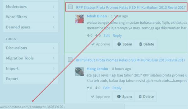 Cara Mudah Memperbaiki URL Komentar Disqus di Postingan Menjadi URL Homepage