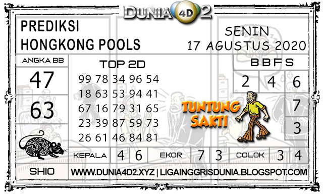 Prediksi Togel HONGKONG DUNIA4D2 17 AGUSTUS 2020