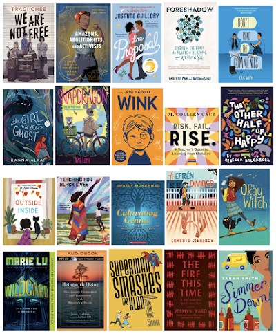 20 book cover images are shown in four rows of five.