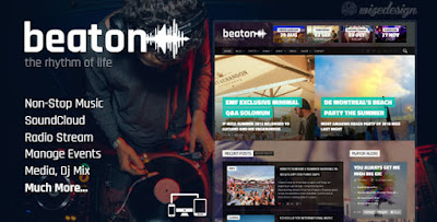 Download Beaton Music, Radio & Events WordPress Theme