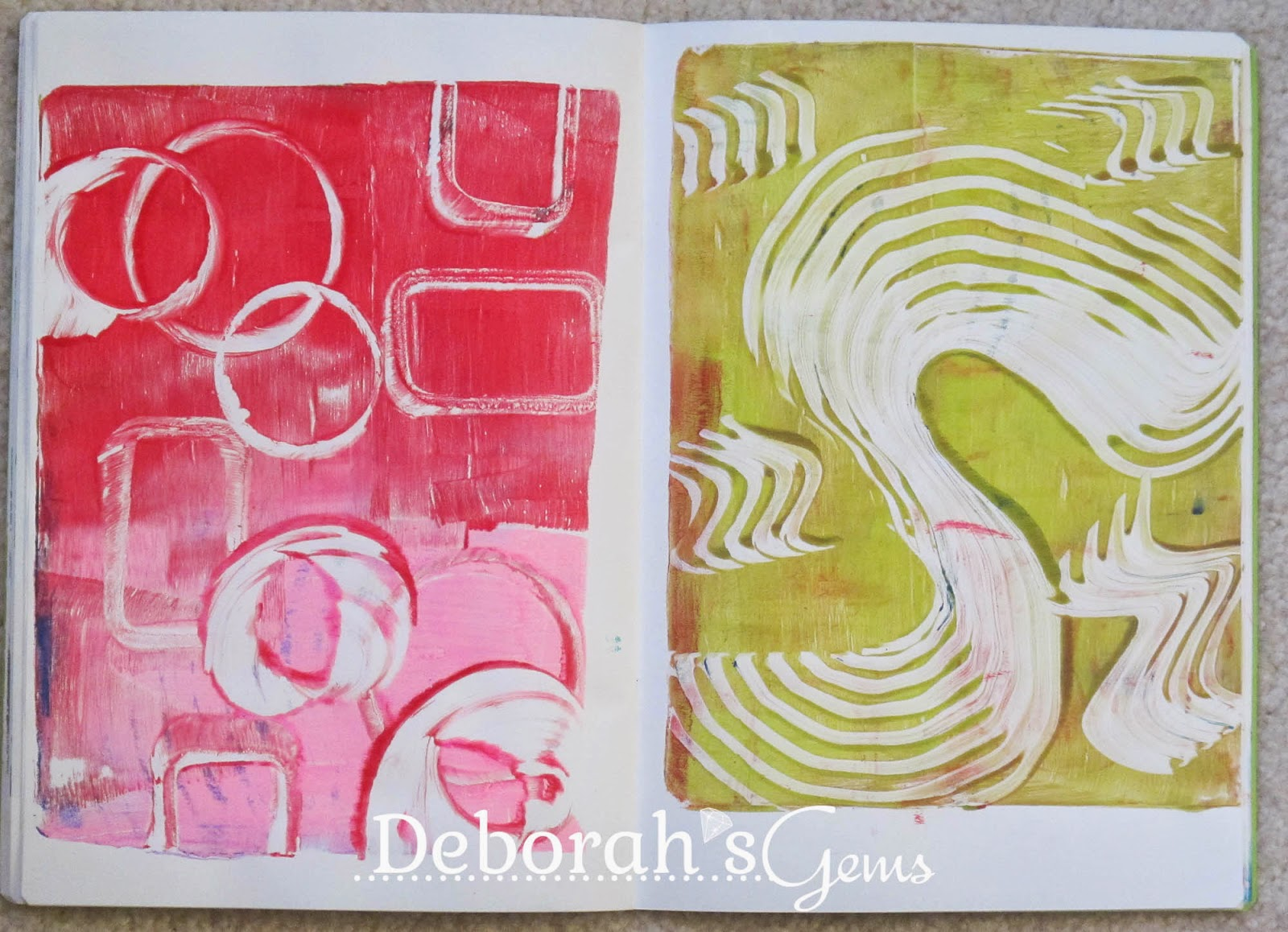 Gelli Journal 7 - photo by Deborah Frings - Deborah's Gems