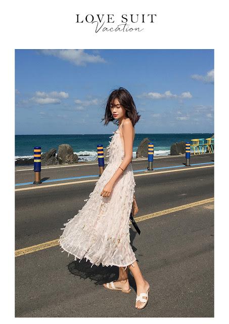 Cua hang ban vay maxi di bien tai Kim Ma