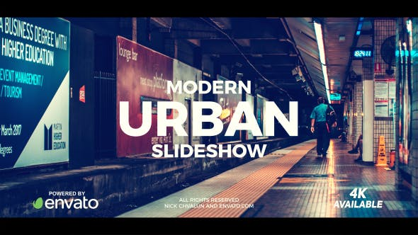 Modern Urban Slideshow : After Effects Template