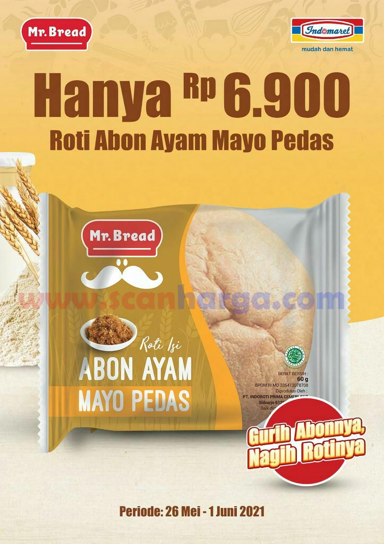 Promo MR BREAD - Harga Spesial Roti Abon Ayam Mayo Pedas hanya Rp.6.900