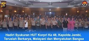 Kapolda Jambi Hadiri Syukuran HUT Korpri Ke-48 Tahun 2019
