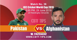Who will win ICC CWC 2019 36th Match Pakistan vs Afghanistan