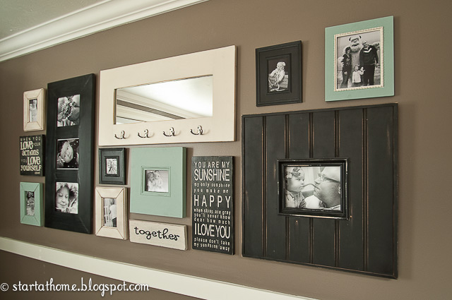 If you have a favorite family saying try incorporating it as i have with our family wall