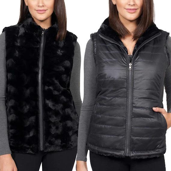 Women's Reversible Faux Fur Vests