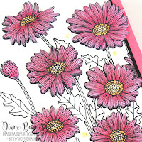 handmade thank you can made with Stampin' Up Daisy Garden stamp set and coloured with Stampin Blends alcohol markers. Card by Di Barnes - Independent Demonstrator in Sydney Australia - colourmehappy - sydneystamper