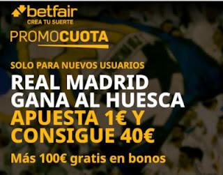 betfair promocuota Real Madrid gana Huesco 6 febrero 2021