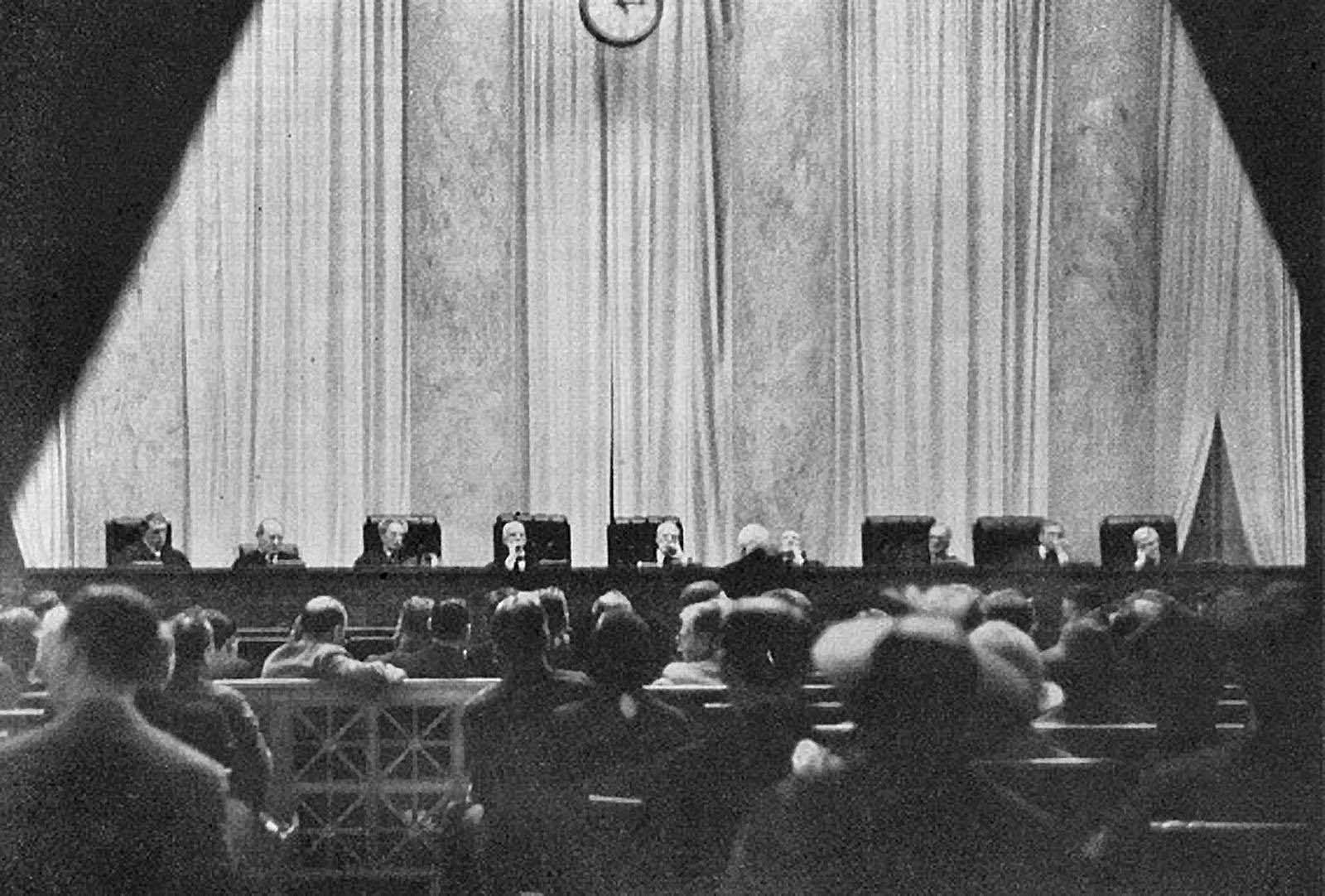 This other known photo of the Supreme Court in session. The photo was published in Time magazine on June 7, 1937.