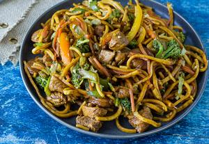 Caribbean Chow Mein