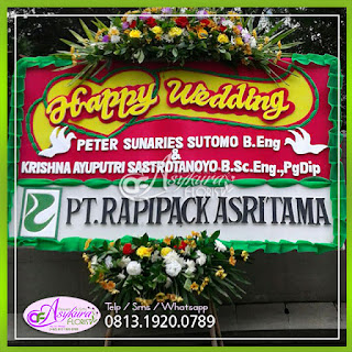 Toko Bunga Papan Happy Wedding BPWD001
