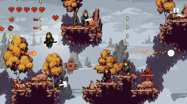 Apple Knight Game Pixel Menantang