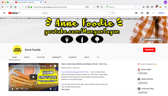 https://www.youtube.com/c/AnneFoodie/videos