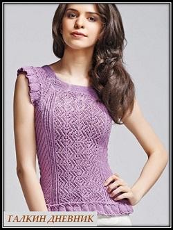 ajurnii-top-spicami | knitted-blouse | koftochka-prutkamі | koftochka-spicyami