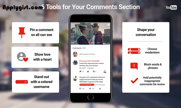 YouTube Users can now pin comments