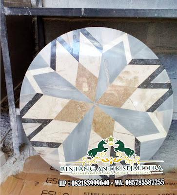 Lantai Marmer Motif | Lantai Border Inlay Marmer Mewah