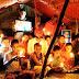 समाजवादी कुटिया पर मोमबत्ती जलाकर भाजपा सरकार के प्रति जताया विरोध