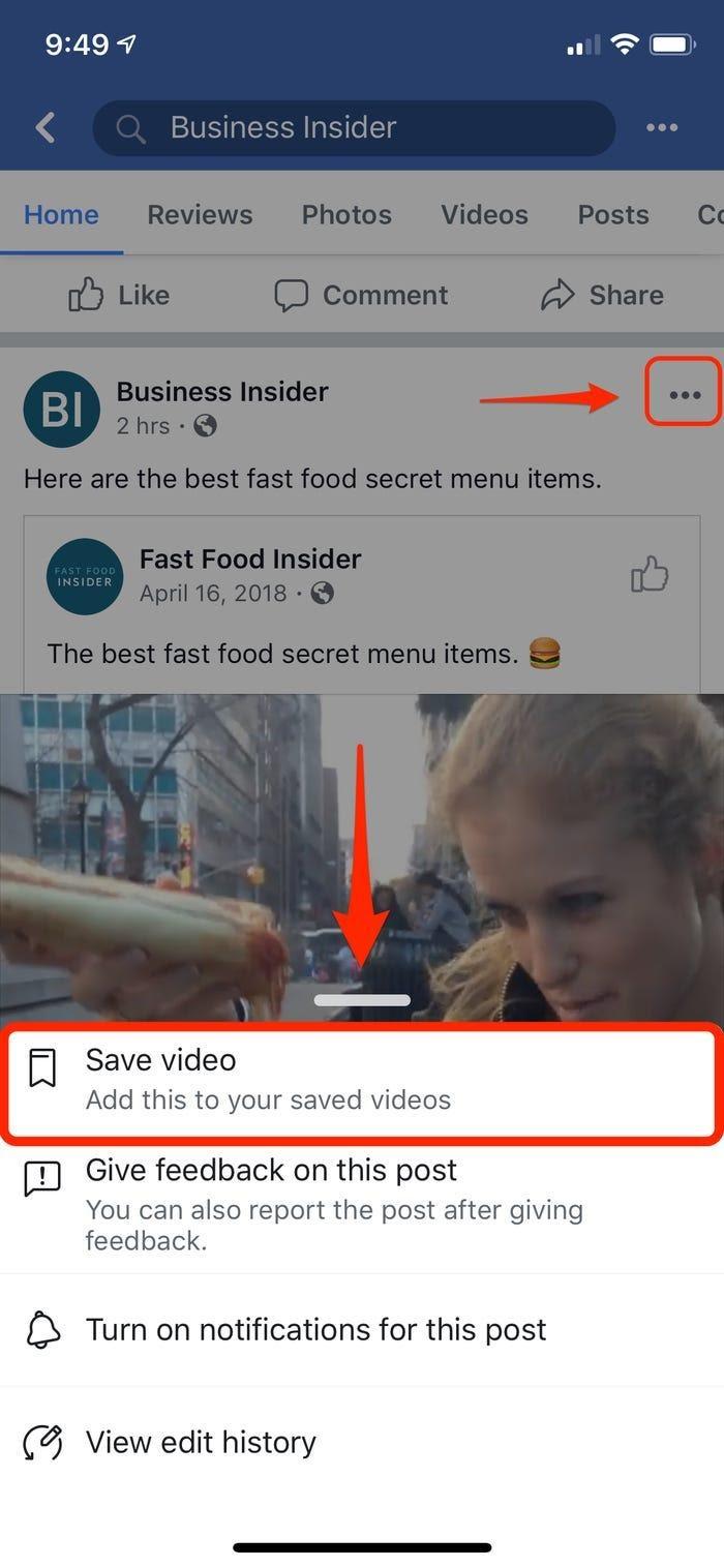 Cara Bookmark Video Facebook