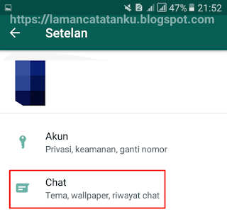 masuk setting chat whatsapp