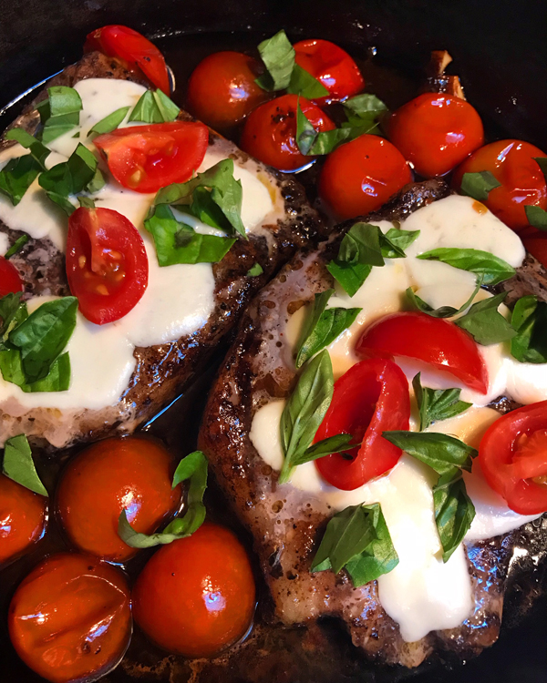 caprese pork chops || A Less Processed Life