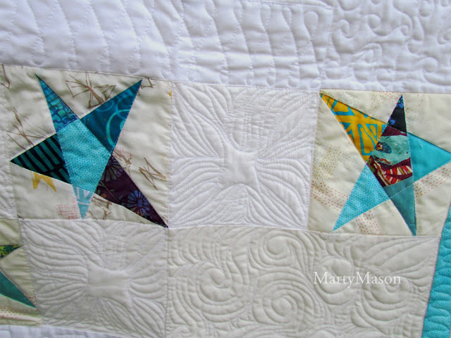 Confetti Star quilt by Marty Mason