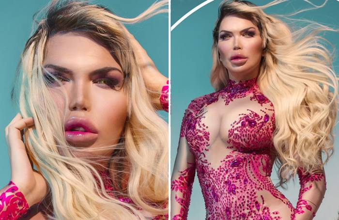 Rodrigo Alves presents a glamorous new photoshoot to the world to symbolize her 'rebirth' as ​​a transgender woman