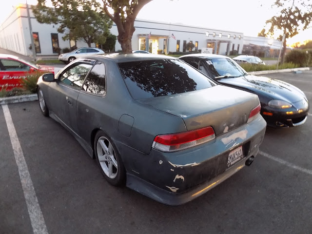 Faded Honda Prelude before paint job at Almost Everything Auto Body.