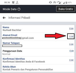 Cara Mengganti Email Facebook di HP