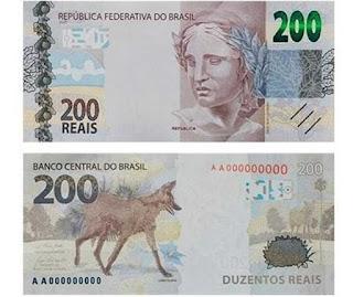 Nova nota de R$ 200,00 estar circulação no país desde  quarta-feira (2)