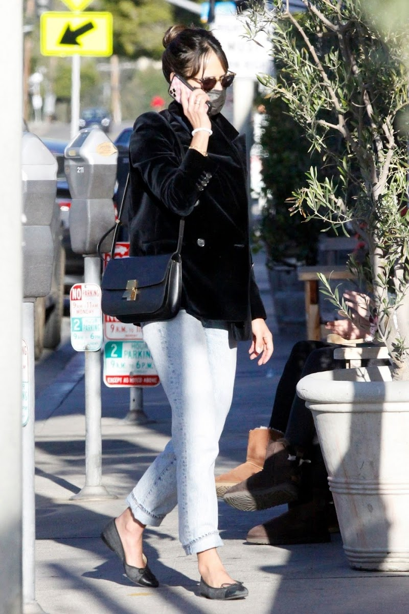 Jordana Brewster Clicked Out for Coffee in Los Angeles 12 Apr-2021