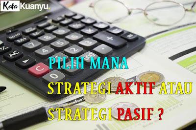 Strategi aktif dan pasif dalam investasi saham