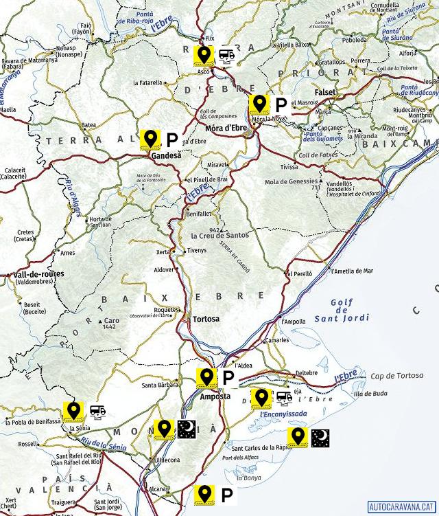 Mapa de llocs visitats