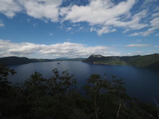 摩周湖第1展望台からの眺望 見事な摩周ブルー